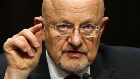 Director of National Intelligence James Clapper testifies before a Senate Intelligence Committee hearing on ''Current and Projected National Security Threats to the United States'' on Capitol Hill in Washington March 12, 2013. REUTERS/Kevin Lamarque/Files