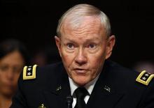 الجنرال مارتن ديمبسي رئيس هيئة الأركان المشتركة للقوات المسلحة الأمريكية في واشنطن يوم 4 يونيو حزيران 2013. تصوير: لاري داونينج - رويترز