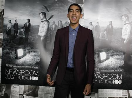 Actor Dev Patel arrives for the season 2 premiere of his HBO drama series ''The Newsroom'' in Hollywood July 10, 2013. REUTERS/Fred Prouser
