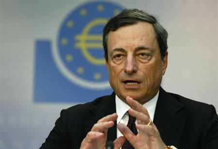 European Central Bank (ECB) President Mario Draghi speaks during the monthly ECB news conference in Frankfurt July 4, 2013. REUTERS/Ralph Orlowski