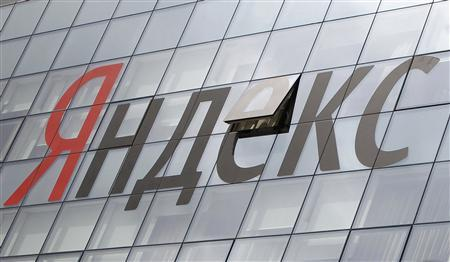 The company logo is seen on the headquarters building of Yandex company, in Moscow June 14, 2012. REUTERS/Maxim Shemetov