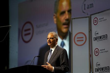U.S. Attorney General Eric Holder addresses the 2013 National Urban League conference in Philadelphia July 25, 2013. REUTERS-Mark Makela