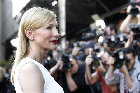 Cast member Cate Blanchett poses at the premiere of ''Blue Jasmine'' at the Academy of Motion Pictures Arts and Sciences in Beverly Hills, California July 24, 2013. The movie opens in the U.S. on July 26. REUTERS/Mario Anzuoni