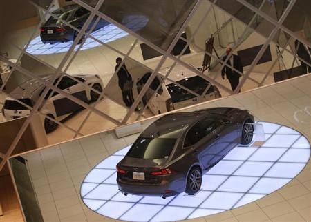 Toyota Motor Corp's Lexus IS 350 is displayed at the company's showroom in Nagoya, central Japan July 1, 2013. REUTERS/Toru Hanai
