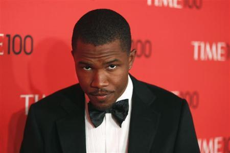 Singer Frank Ocean arrives for the Time 100 gala celebrating the magazine's naming of the 100 most influential people in the world for the past year, in New York, April 23, 2013. REUTERS/Lucas Jackson