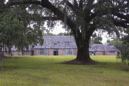 The manor house that is part of the former Richmond Plantation, a historic property of 152 acres near rural Cordesville, South Carolina is shown in this handout photo taken July 12, 2013, during a 'farewell' visit by former Girl Scouts. REUTERS/Cathy Miller/Handout via Reuters