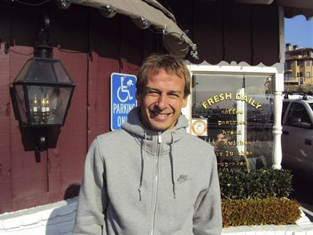 New U.S. soccer coach Juergen Klinsmann poses during an interview with Reuters in southern California December 31, 2011. REUTERS/Eric Kirschbaum