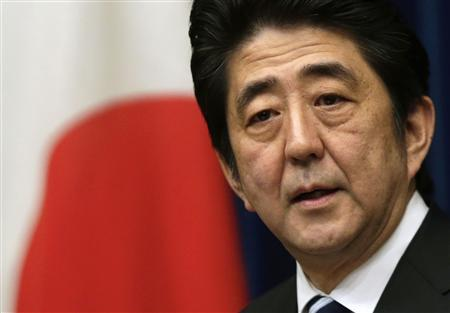 Japan's Prime Minister Shinzo Abe speaks during a news conference at his official residence in Tokyo in this March 15, 2013 file photo. REUTERS/Toru Hanai/Files