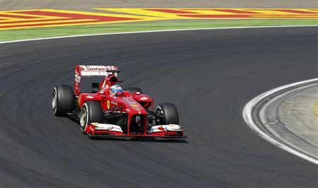 Ferrari Formula One driver Fernando Alonso of Spain drives during the Hungarian F1 Grand Prix at the Hungaroring circuit in Mogyorod, near Budapest July 28, 2013. REUTERS/Laszlo Balogh