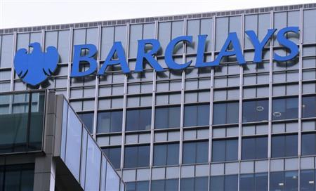 The logo of Barclays bank is seen at its office in the Canary Wharf business district of London April 1, 2013. REUTERS/Chris Helgren