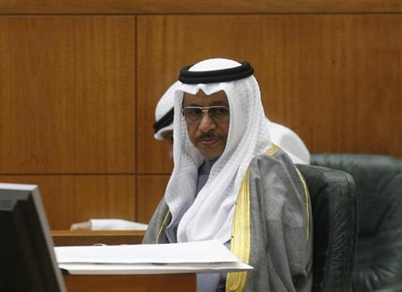 Kuwait's Prime Minister Sheikh Jaber al-Mubarak al-Sabah answers questions during a grilling session on issues linked to his government by some members of parliament in Kuwait City March 28, 2012. REUTERS/Stringer