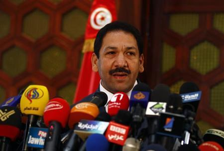 Tunisia's Interior Minister Lotfi Ben Jeddou speaks during a news conference in Tunis July 26, 2013. REUTERS/Zoubeir Souissi