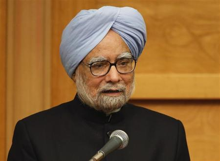 Indian Prime Minister Manmohan Singh delivers a speech at a hotel in Tokyo May 28, 2013. REUTERS/Yuya Shino