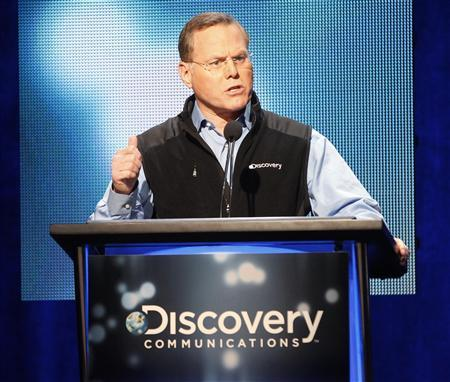 David M. Zaslav, President and Chief Executive Officer of Discovery Communications speaks at the Television Critics Association Cable TV Summer press tour in Beverly Hills, California in this file photo from July 25, 2013. REUTERS/Fred Prouser/Files