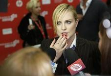"Cast member Evan Rachel Wood talks to the media at the premiere of the film ""The Necessary Death of Charlie Countryman"" at the Sundance Film Festival in Park City, Utah, January 21, 2013. REUTERS/Jim Urquhart"