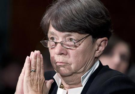 SEC chairwoman Mary Jo White testifies at a Senate Banking, Housing and Urban Affairs Committee hearing on Capitol Hill July 30, 2013. REUTERS/Jose Luis Magana