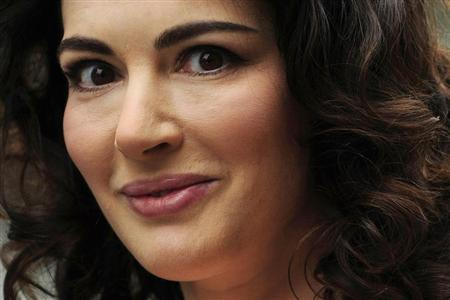 British chef and food writer Nigella Lawson arrives for the British premiere of the film Bruno at Leicester Square in central London June 17, 2009. REUTERS/Toby Melville