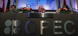 El secretario general de la OPEP, Abdullah Al-Badri, ofrece una conferencia de prensa tras la reciente reunión del organismo de países exportadores en Viena. REUTERS/Leonhard Foege.