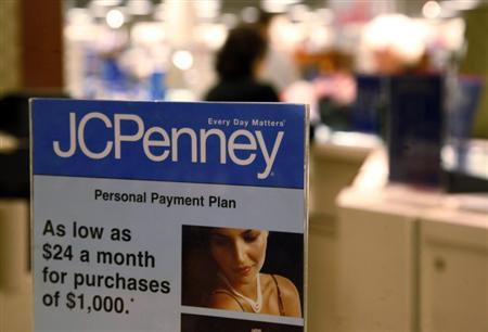 A sign on the jewelry counter at the J.C. Penney store in Westminster, Colorado February 20, 2009. REUTERS/Rick Wilking