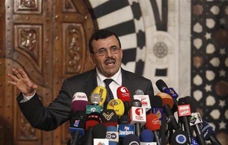 Tunisia's Prime Minister Ali Larayedh speaks during a news conference in Tunis July 29, 2013. REUTERS/Zoubeir Souissi