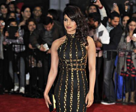 Actress Priyanka Chopra arrives for the inaugural Times of India Film Awards in Vancouver, British Columbia April 6, 2013. REUTERS/Jimmy Jeong/Files