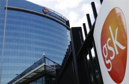 The GlaxoSmithKline building is pictured in Hounslow, west London June 18, 2013. REUTERS/Luke MacGregor/Files
