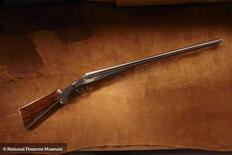 Former U.S. President Grover Cleveland's 8 Gauge Colt Shotgun is pictured in this undated handout photo provided by the National Firearms Museum. Grover Cleveland (1837-1908), the 22nd and 24th President of the United States, owned this rare Colt 8 gauge shotgun, the only 8 gauge ever produced in this model. REUTERS/National Firearms Museum/Handout via Reuters