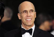 Producer Jeffrey Katzenberg, chief executive of DreamWorks Animation, arrives at the Academy of Motion Picture Arts & Sciences 4th annual Governors Awards in Hollywood in this file photo from December 1, 2012. REUTERS/Fred Prouser/Files