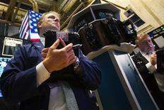 Maintenant que les chiffres de l'emploi du mois de juillet ont été publiés et que la saison des résultats est déjà largement entamée, l'activité sur Wall Street devrait être plus atone dans la semaine qui vient. /Photo prise le 1er août 2013/REUTERS/Keith Bedford