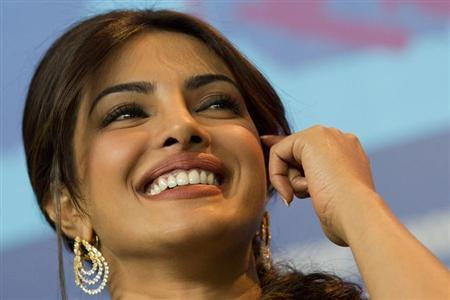 Cast member Priyanka Chopra attends a news conference to promote the movie ''Don - The King is back'' at the 62nd Berlinale International Film Festival in Berlin February 10, 2012. REUTERS/Thomas Peter/Files