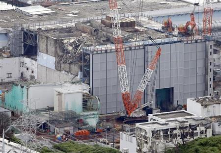 An aerial view shows the No.3 reactor building at Tokyo Electric Power Co. (TEPCO)'s tsunami-crippled Fukushima Daiichi nuclear power plant in Fukushima Prefecture, in this photo taken by Kyodo July 18, 2013. REUTERS/Kyodo/Files