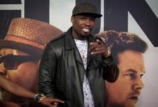 "Rapper Curtis ""50 Cent"" Jackson arrives for the premiere of the movie '2 Guns' in New York, July 29, 2013. REUTERS/Carlo Allegri"