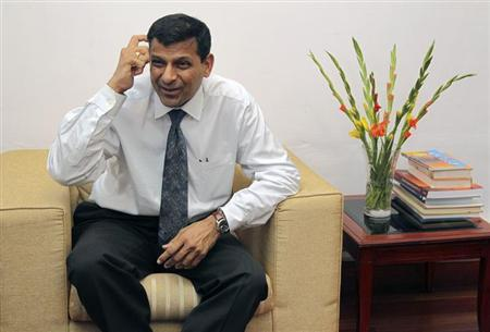 Chief economic adviser Raghuram Rajan speaks during an interview with Reuters in New Delhi March 11, 2013. REUTERS/B Mathur/Files