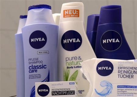 Nivea products of German company Beiersdorf AG are pictured in Hamburg, October 31, 2012. REUTERS/Fabian Bimmer
