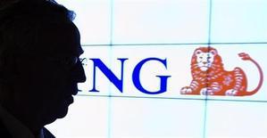 Le groupe néerlandais ING a publié mercredi des résultats meilleurs que prévu dans sa principale activité bancaire, tout en préparant la poursuite de la réduction de son bilan pour se remettre de la crise financière. /Photo d'archives/REUTERS/Toussaint Kluiters/United Photos