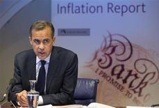 Bank of England governor Mark Carney leads the bank's quarterly inflation report news conference at the Bank of England in London August 7, 2013. REUTERS/Simon Dawson/POOL