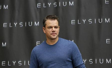 Cast member Matt Damon poses during a photo call for ''Elysium'' in Los Angeles, California August 2, 2013. The movie opens in the U.S. on August 9. REUTERS/Mario Anzuoni