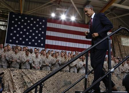 U.S. President Barack Obama walks out after speaking at Marine Corps Base-Camp Pendleton in California, August 7, 2013. REUTERS/Larry Downing