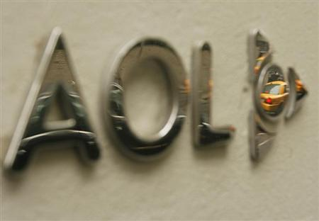 The AOL logo is seen on the outside of the building housing the companies corporate headquarters in New York May 28, 2009. REUTERS/Lucas Jackson