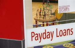 A children's play area is seen inside a payday lending shop in London March 6, 2013. REUTERS/Suzanne Plunkett