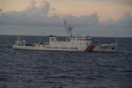 China Coast Guard vessel No. 2146 sails in the East China Sea near the disputed isles known as Senkaku isles in Japan and Diaoyu islands in China, in this handout photo taken and released by the 11th Regional Coast Guard Headquarters-Japan Coast Guard August 8, 2013. REUTERS/11th Regional Coast Guard Headquarters-Japan Coast Guard/Handout via Reuters