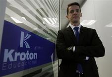 Diretor presidente da Kroton, Rodrigo Galindo, durante o Reuters Latin America Investment Summit de 2013, em São Paulo, 23 de maio de 2013. A Kroton mais que dobrou seu lucro líquido ajustado no segundo trimestre em relação ao mesmo período do ano passado, com alta de 131,7 por cento, para 112,98 milhões de reais, informou a empresa de educação nesta quinta-feira. 23/05/2013 REUTERS/Paulo Whitaker