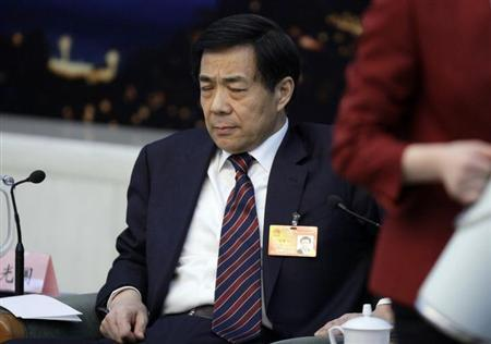 China's former Chongqing Municipality Communist Party Secretary Bo Xilai reacts during a meeting at the annual session of China's parliament, the National People's Congress, at the Great Hall of the People in Beijing, March 6, 2010. REUTERS/Jason Lee