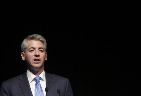 Bill Ackman, chief executive officer and portfolio manager of Pershing Square Capital Management, L.P., speaks at the Ira Sohn Investment Conference in New York, May 8, 2013. REUTERS/Brendan McDermid (UNITED STATES - Tags: BUSINESS) - RTXZFGJ