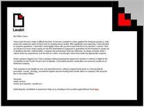 Capture d'écran de la lettre de Ladar Levison, propriétaire de Lavabit.com, publiée sur le site de ce service de courriels codés, considéré comme ayant été utilisé par Edward Snowden. Cette messagerie codée a brusquement fermé jeudi sans explication, son propriétaire semblant toutefois suggérer dans son courrier avoir préféré le fermer plutôt que de permettre aux autorités américaines d'avoir accès à ses clients. /Image du 9 août 2013/REUTERS/Lavabit.com