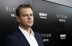 """Ator Matt Damon no lançamento mundial de """"Elysium"""" em Los Angeles, Califórnia 7/8/2013 REUTERS/Mario Anzuoni"""