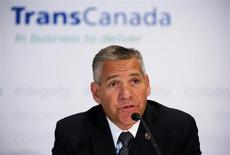 TransCanada President and CEO Russ Girling announces the new Energy East Pipeline during a news conference in Calgary, Alberta, August 1, 2013. REUTERS/Todd Korol