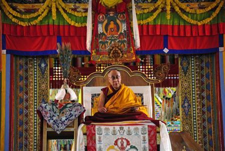 Tibetan spiritual leader the Dalai Lama delivers a religious sermon at the Gyudmed Tantric University in Gurupura, southwest of Bangalore July 16, 2013. REUTERS/Stringer/Files