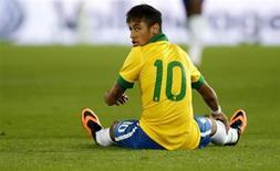 O atacante Neymar em lance da partida em que o Brasil perdeu para a Suíça nesta quarta-feira. REUTERS/Arnd Wiegmann