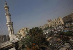 A general view of the Rabaa Adawiya mosque complex after the clearing of a protest camp around the mosque, in Cairo August 15, 2013. REUTERS-Amr Abdallah Dalsh